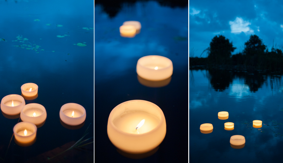 hand made floating candles cape town